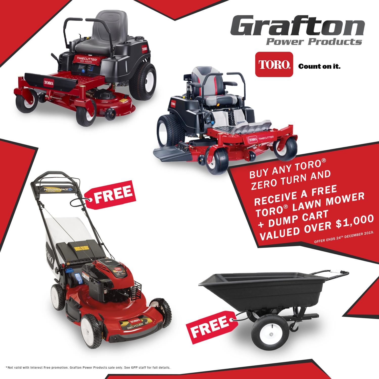 Perfect Xmas Gift - A FREE Toro Lawn Mower & Dump Cart