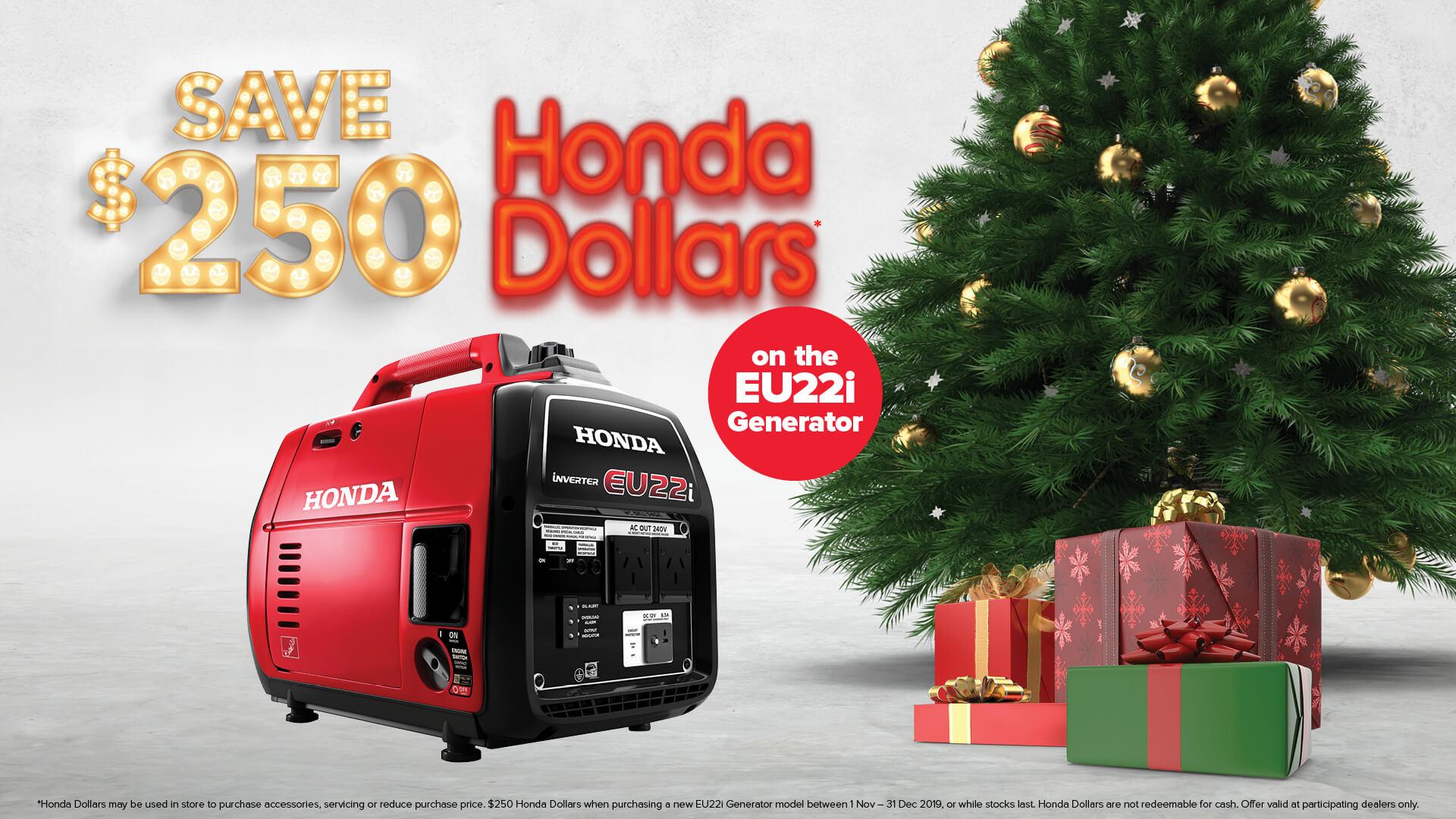 SAVE $250 - Honda Dollars