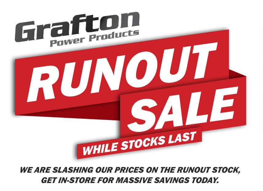 RUNOUT SALE - While Stock Lasts