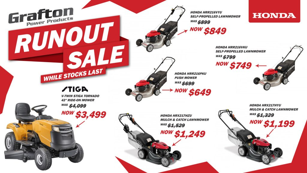 Grafton Power Products Runout Sale
